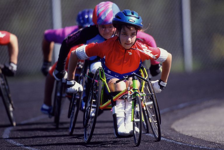 Activities for kids with special needs - wheelchair racing