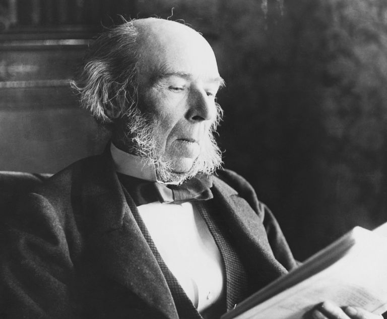 Portrait of Herbert Spencer, who contributed to sociology, philosophy, psychology, economics, and political theory. Learn about his life and works here.
