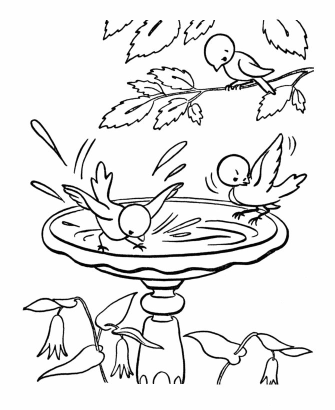BlueBonkers Spring Coloring Pages