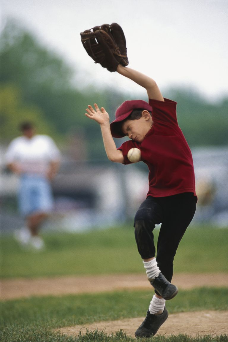 young pitcher hit by baseball