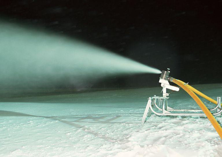Got a garden hose or pressure washer with a spray mister? If the temperature is cold enough, you can make snow yourself!