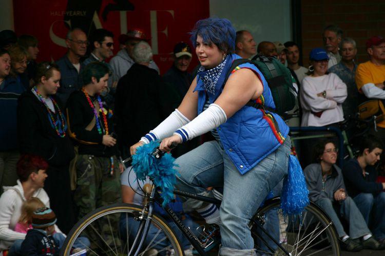 Portland Pride Festival Bike Rider