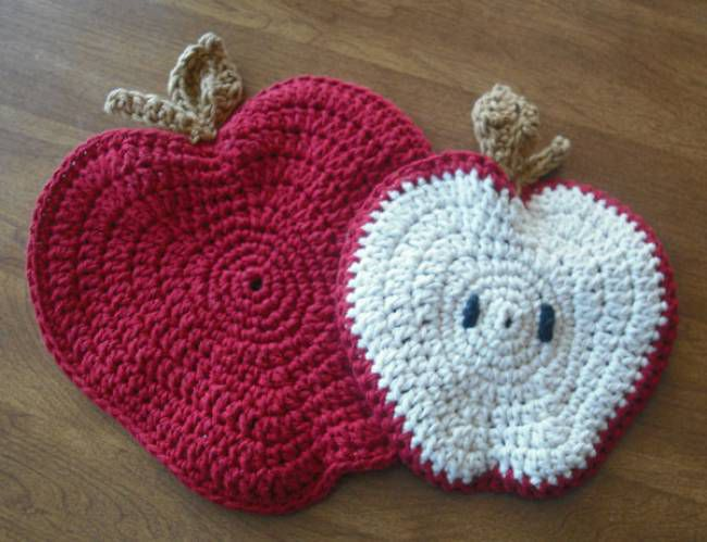 10 free crochet potholder patterns apple potholder free crochet pattern dt1010fo