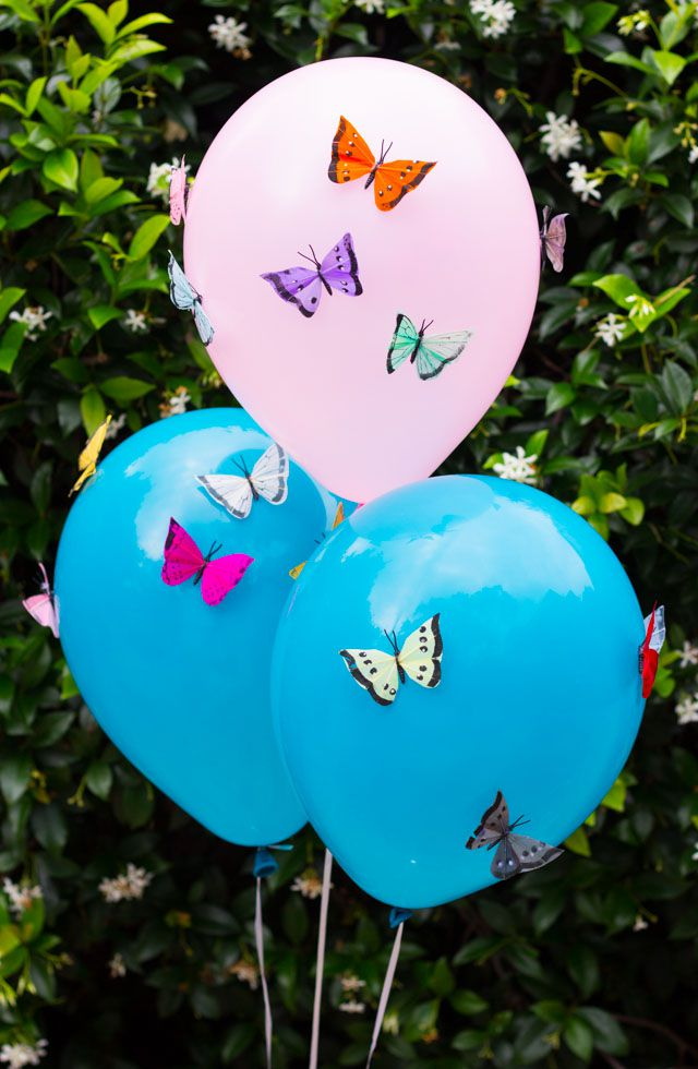 DIY Butterfly Balloons