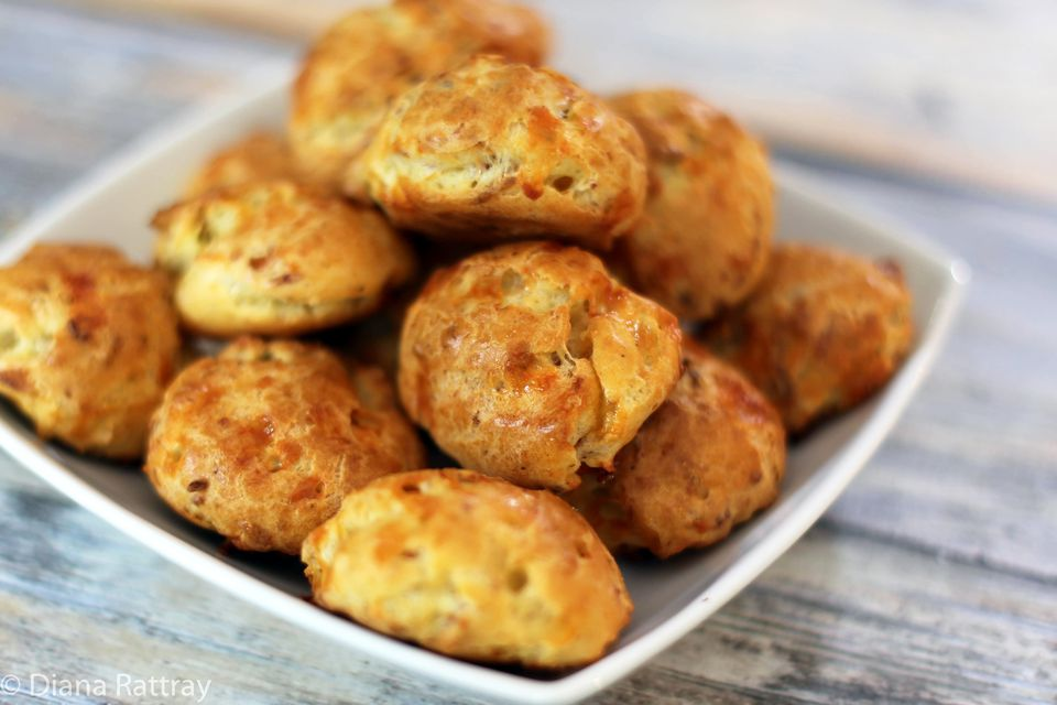Bacon and Cheddar Puffs