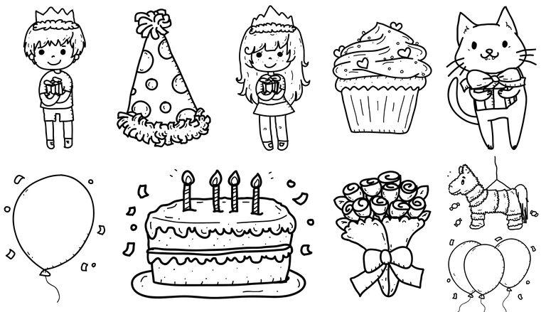 Dibujos de cumpleaños para colorear