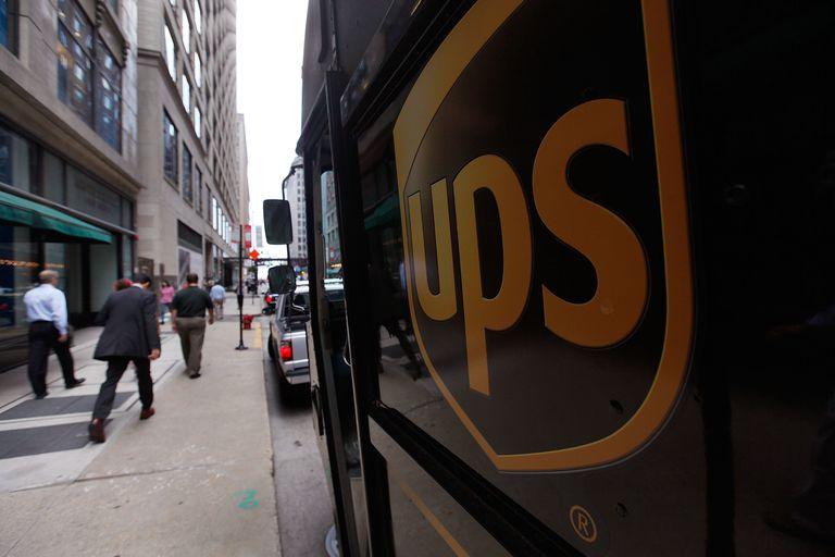 A United Parcel Service Inc. (UPS) truck makes deliveries