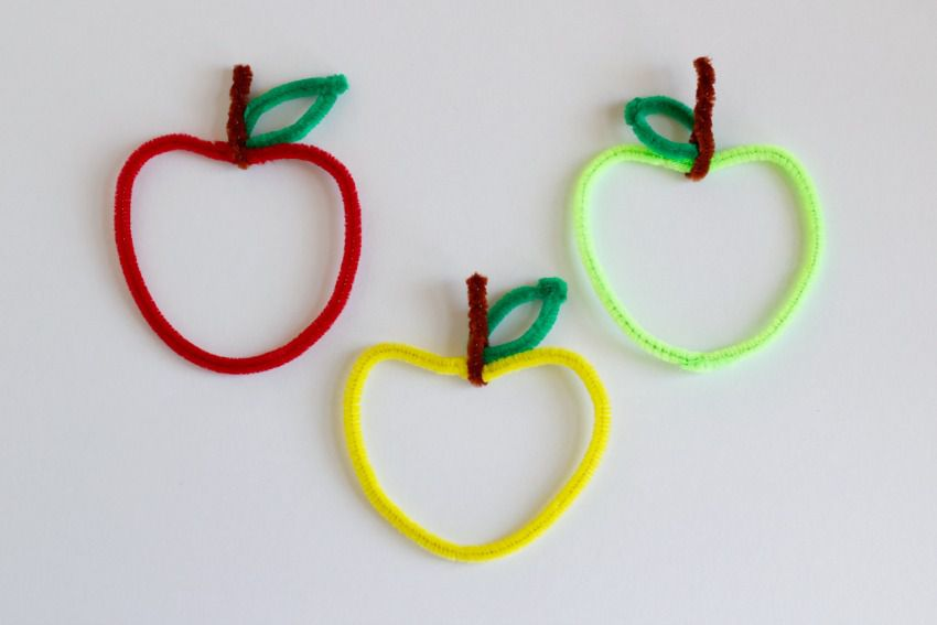 Apple Shaped Pipe Cleaners