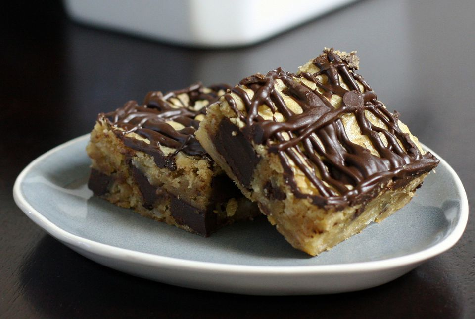 Chewy Coconut Chocolate Chunk Blondies