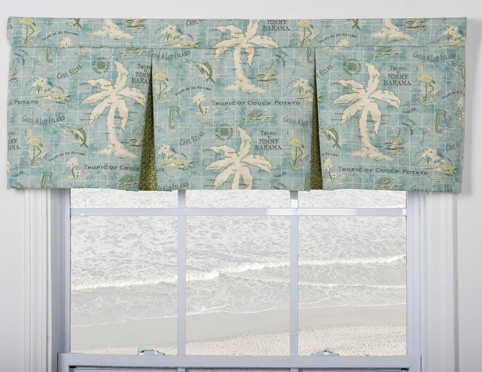 Tropical valance for bedroom