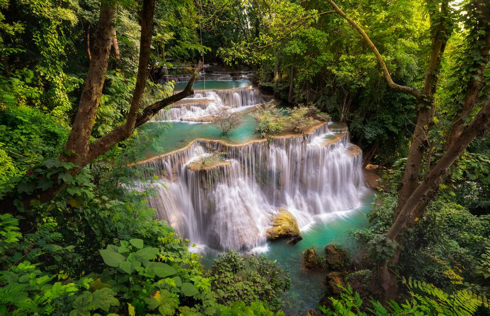 Huay Mae Kamin Waterfall, beautiful waterfall