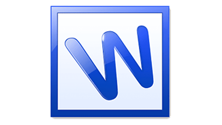 Screenshot of the Kingsoft Writer logo, a large letter W inside a blue box