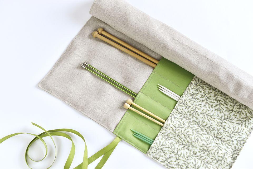 Knitting Needle Case Diy : Diy roll up knitting needle case