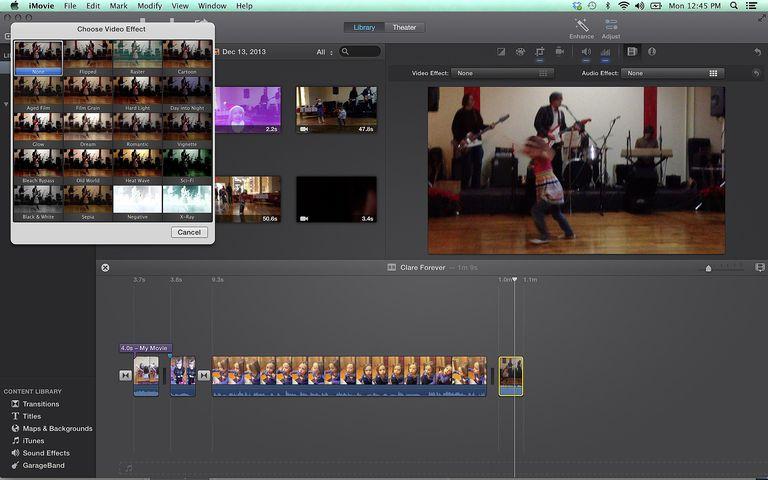 iMovie video effects