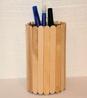 Craft Stick Vase or Pencil Holder