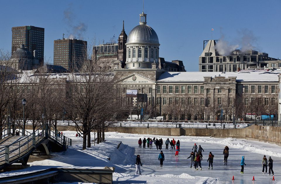 Skating Montreal's Bonsecours Basin during the 2017-2018 season in the Old Port.