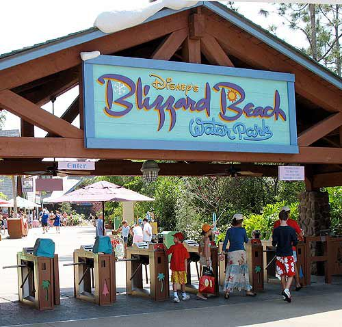 The entrance to Blizzard Beach Water Park at Walt Disney World.