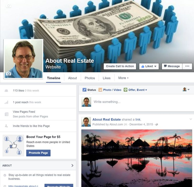 Real Estate Facebook Page