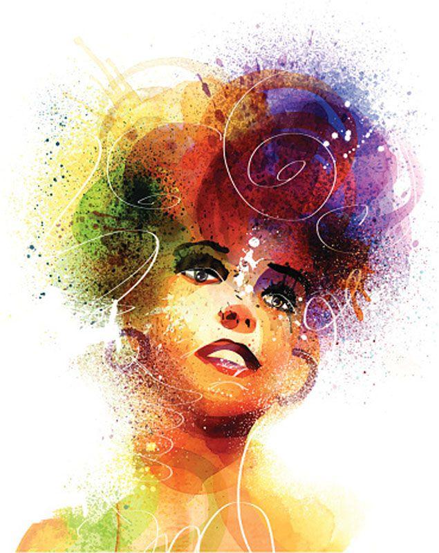 Colorful Disco Girl