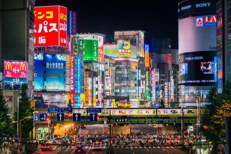 Shinjuku lights in Tokyo, Japan