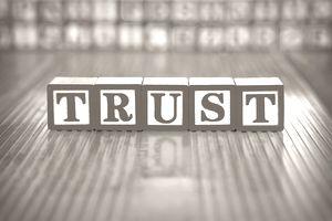 Alphabet blocks spelling trust