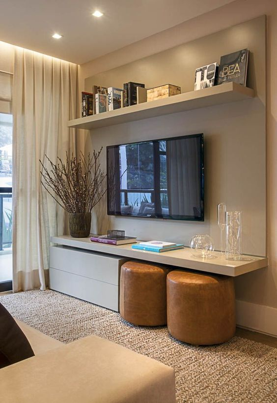 Television integrated into modern decor