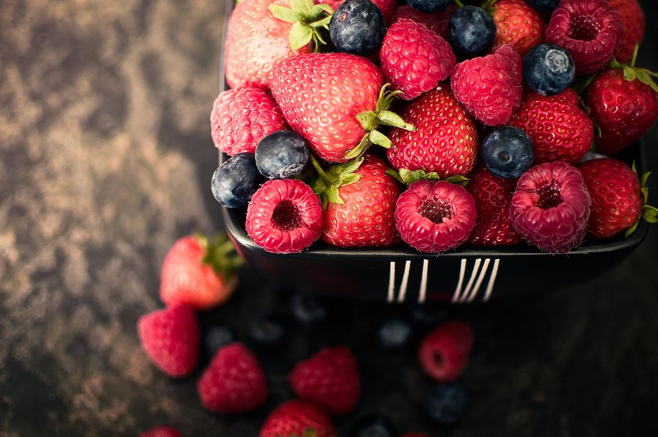 A collection of various berry types