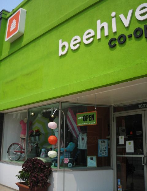 Exterior of a Beehive Co-op