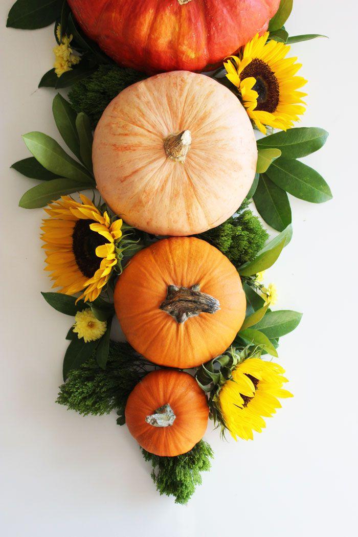 DIY Pumpkin And Sunflowers Centerpiece