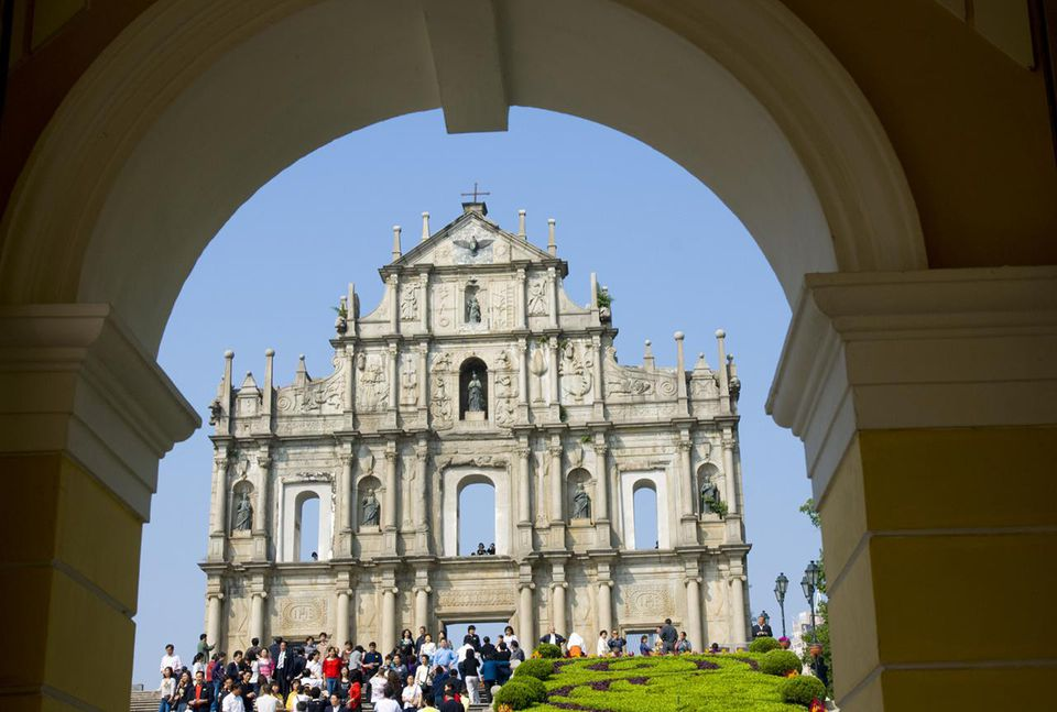 Facade of Saint Paul Cathedral, Macau, China