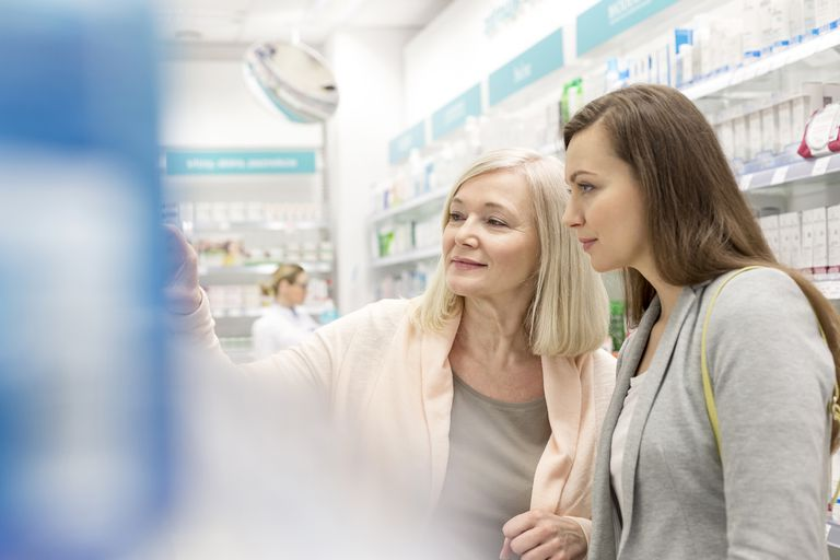 woman shopping at the pharmacy