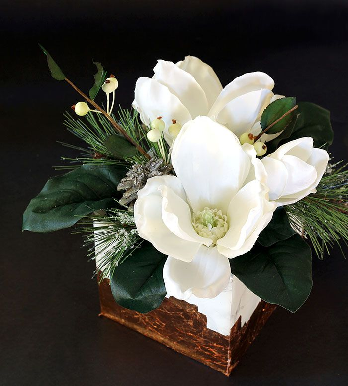 DIY Marble And Copper Floral Arrangment