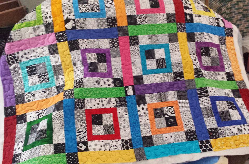 Double Framed Four Patch Quilt Pattern