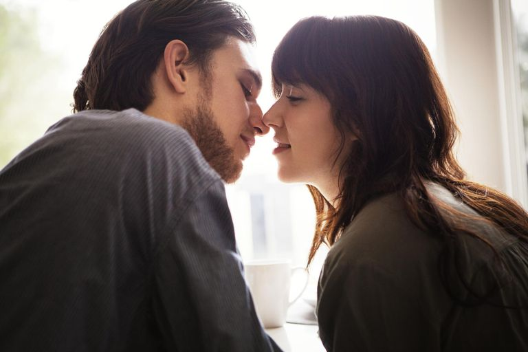 Young Couple About To Kiss
