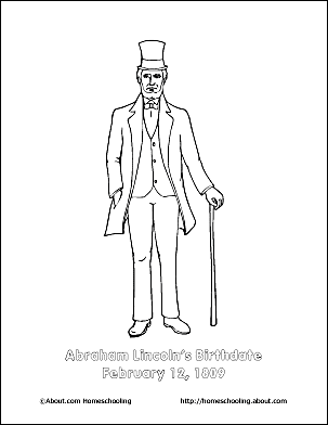 abraham lincoln hat coloring pages - photo#6