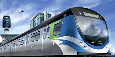 Canada Line train, Vancouver BC rapid transit