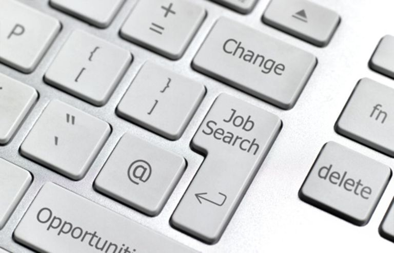 On-line job search computer keybaord