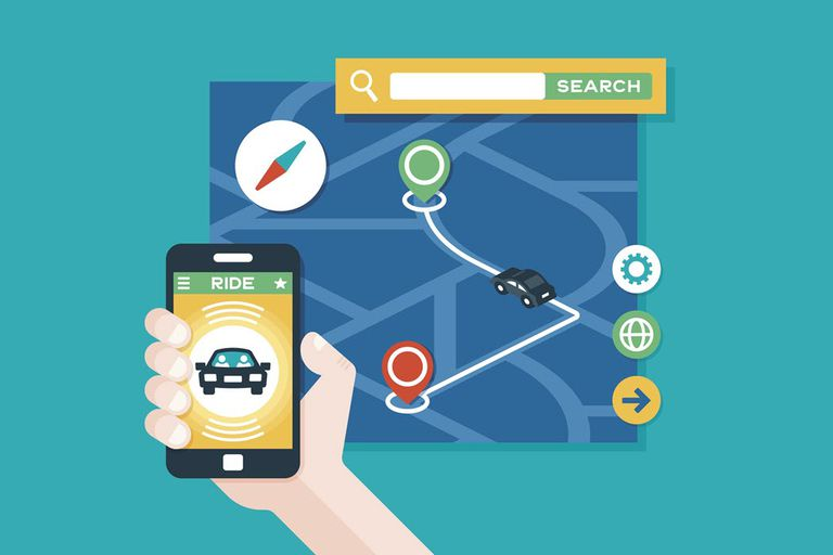 An illustration of how Uber Beacon and live location sharing works.