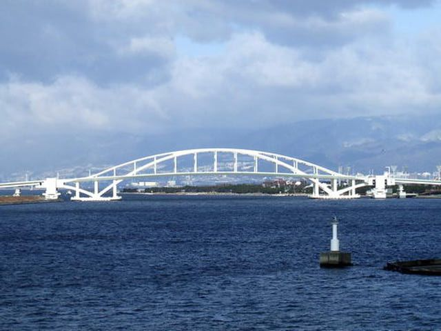 Osaka Bridge - One of Many Modern Bridges in Osaka, Japan