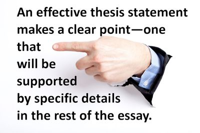 High School Reflective Essay Examples Test Your Ability To Recognize An Effective Thesis Sentence Thesis Statement For A Persuasive Essay also Paper Vs Essay How To Write A Good Thesis Statement High School Application Essay Sample