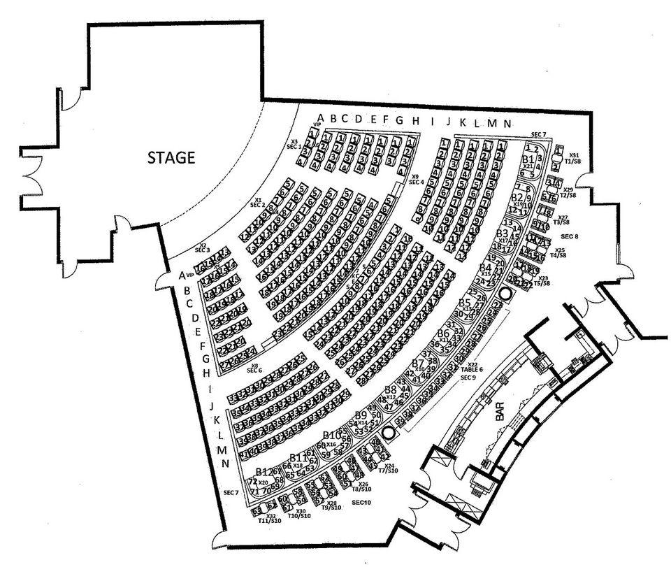 Talking Stick Resort Showroom room Seating Chart