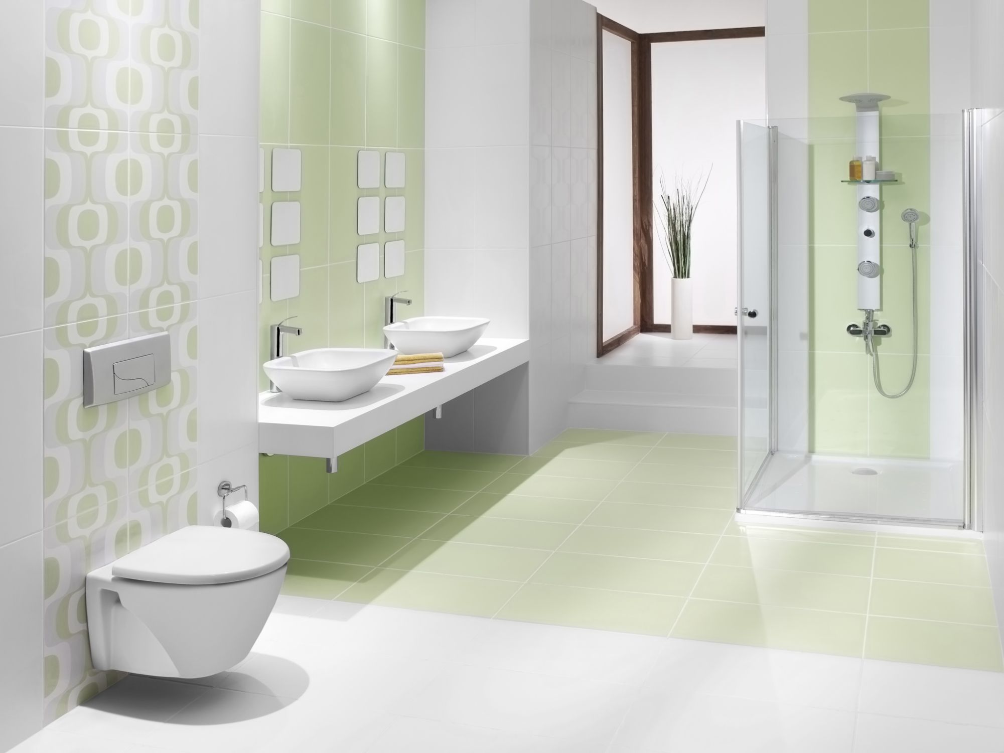 Green tiles for bathroom - Green Tiles For Bathroom 10