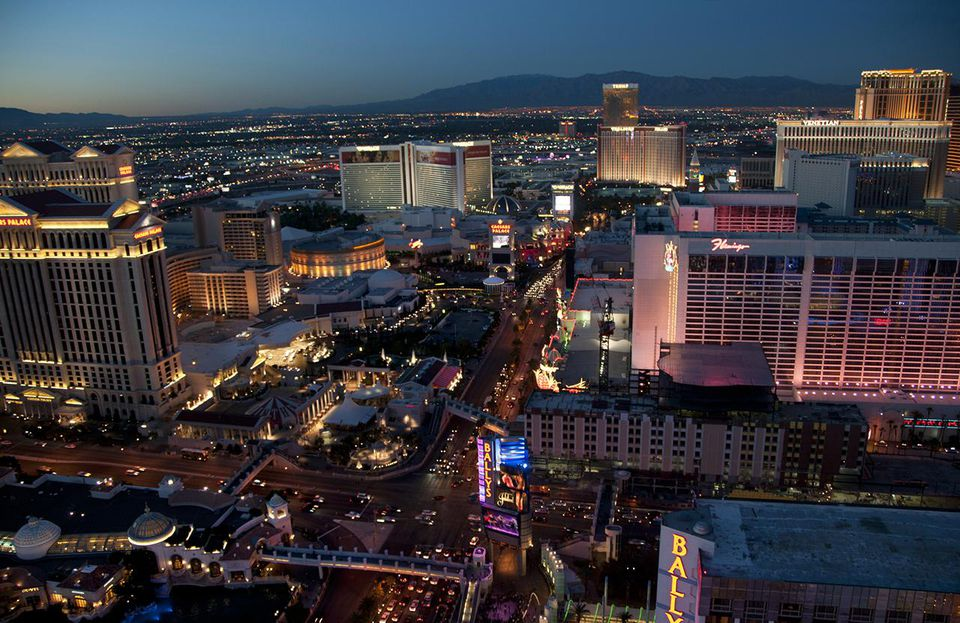 Las Vegas strip attracts budget travelers from around the world.