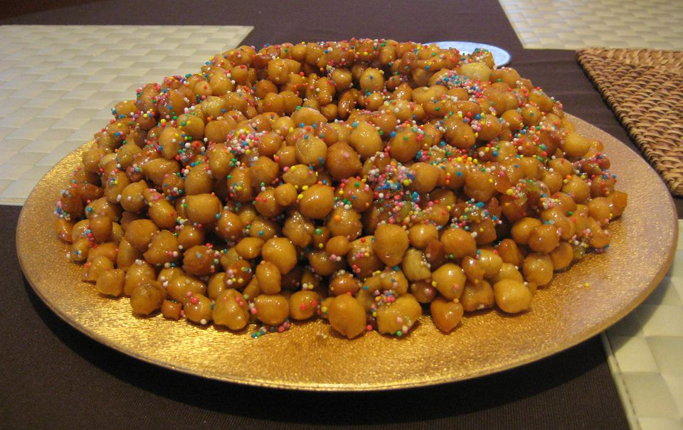 Sicilian Fried Dough Balls with Honey and Pine Nuts