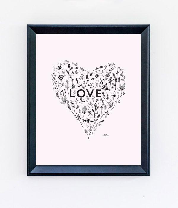 DIY Decorative Heart Print