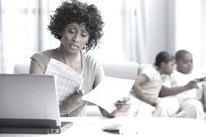 A woman spots a credit card billing error