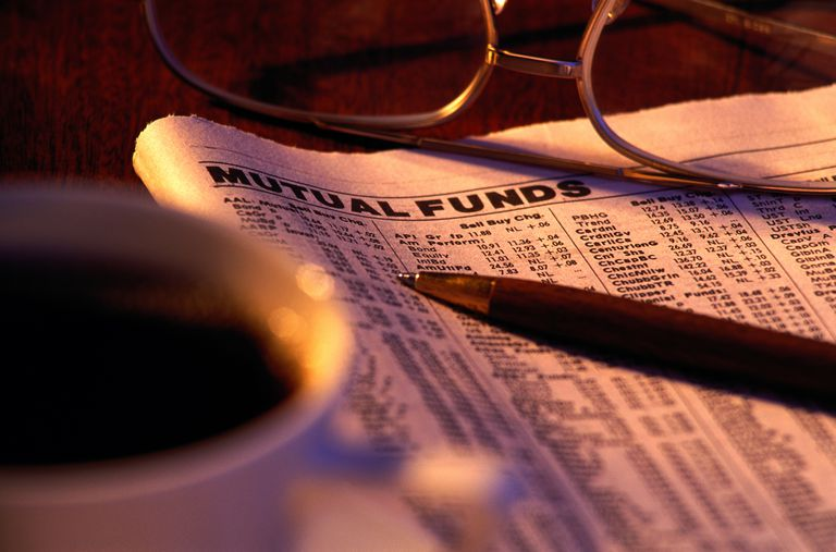 FINANCE NEWS WITH PEN, GLASSES & COFFEE
