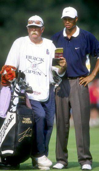 Fluff Cowan was the first of Tiger Woods caddies