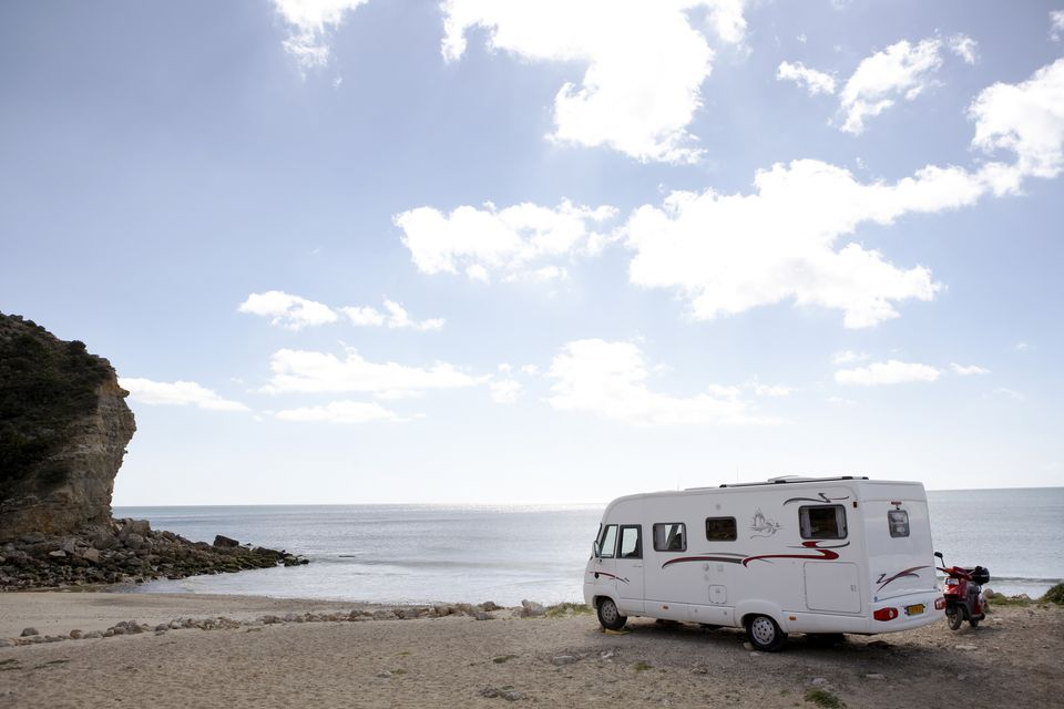 Motorhome at the ocean, Algarve, Portugal