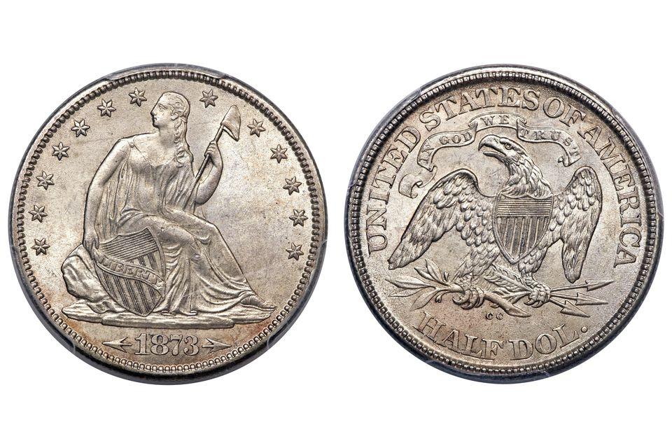 An Uncirculated Liberty Seated Half Dollar